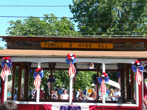 cable car in the Lakewood 4th of July parade