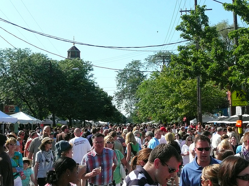 crowds at Tremont Festival