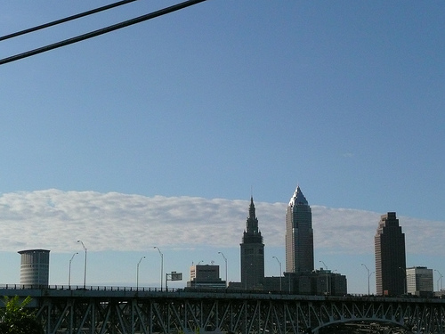 downtown Cleveland from Tremont