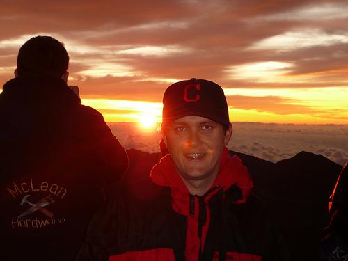 Dan in front of a Maui sunrise