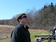 Dan looking at the buzzards