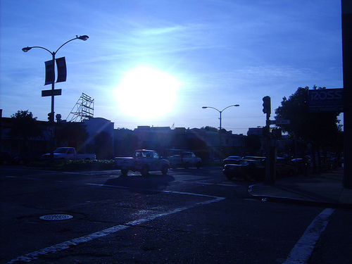 Sun setting over the Richmond