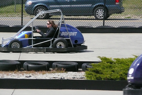 Jessica at the go carts