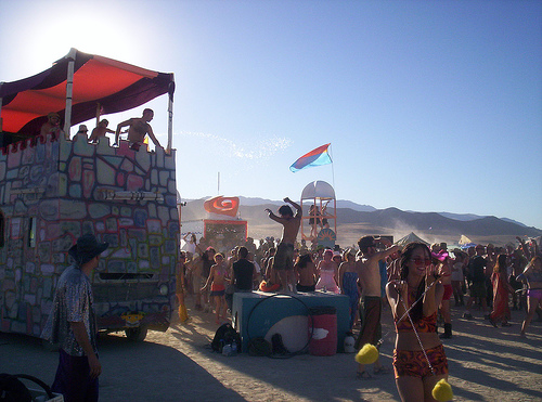 """""""Dancing in the sunlight,"""" Burning Man 2005"""
