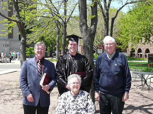 Dad, Jim, Grandpa and Mom