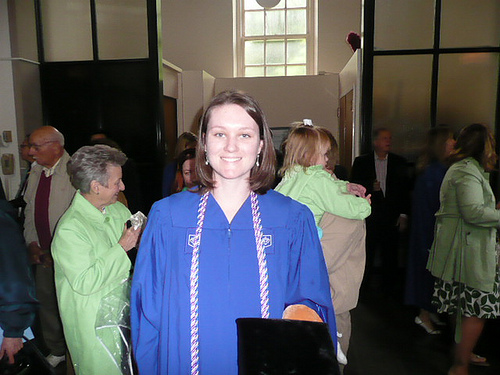 Ellen before the graduation ceremony