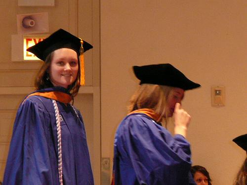 Ellen graduating from DePaul Nursing School Masters program