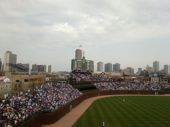 Wrigley Field from left-field upper deck