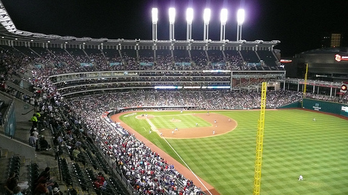 Progressive Field - 9th inning - Indians vs. Giants