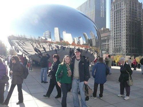 Jessica and Dan in Millenium Park