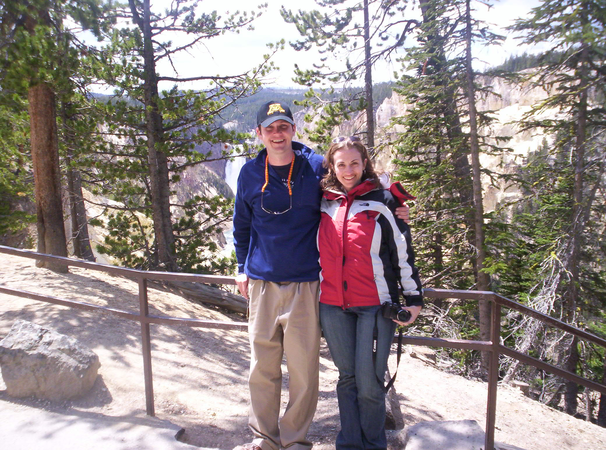 Dan and Jessica at Artist Point, Yellowstone National Park, 2007