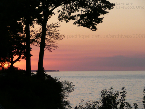 Lake Erie at sunset, Lakewood, Ohio, 2008 photo