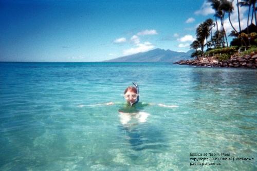 Jessica-snorkeling-at-Napili-Maui--2009--byDanielJMcKeown-500w