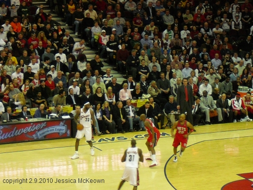 photo of Lebron James playing for the Cleveland Cavaliers at the Q Arena by Jessica McKeown, February 2010