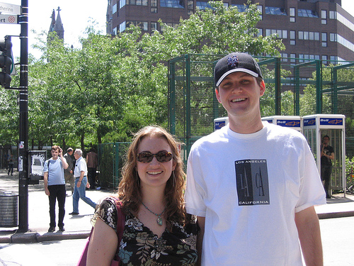 Jessica and Dan in downtown Montreal, 2004