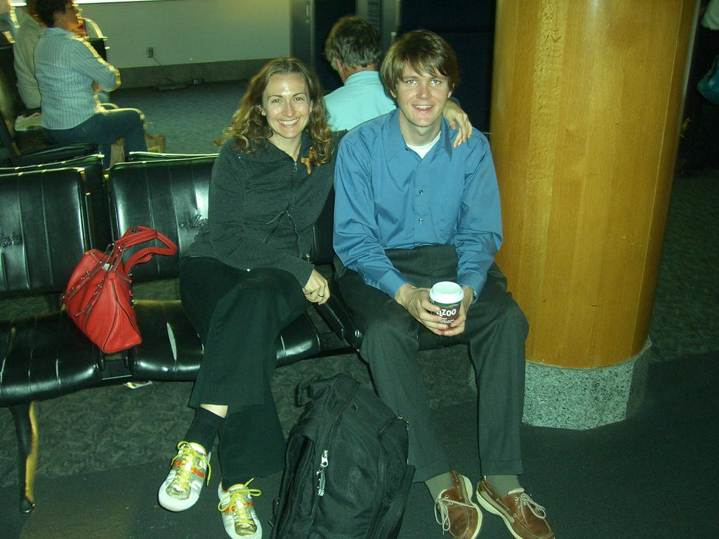 Jessica and Dan at San Francisco Airport, 2006