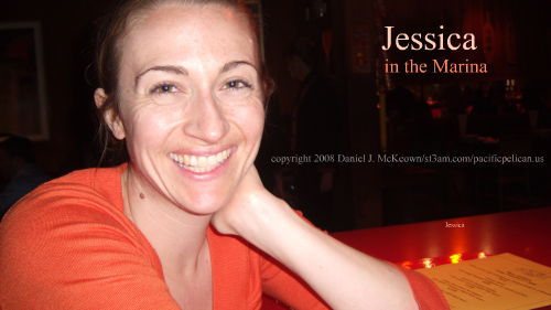 Jessica in the Marina, February 2008